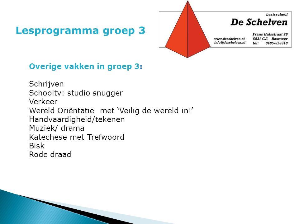 Lesprogramma groep 3