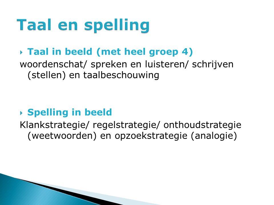 Taal en spelling Taal in beeld (met heel groep 4)