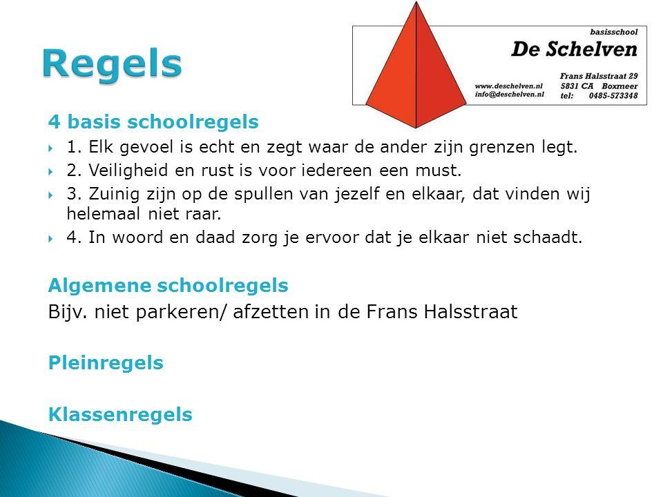 Regels 4 basis schoolregels Algemene schoolregels