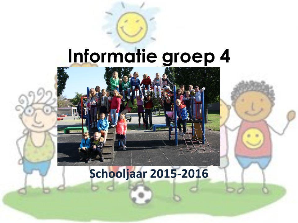 Informatie groep 4 Schooljaar 2015-2016