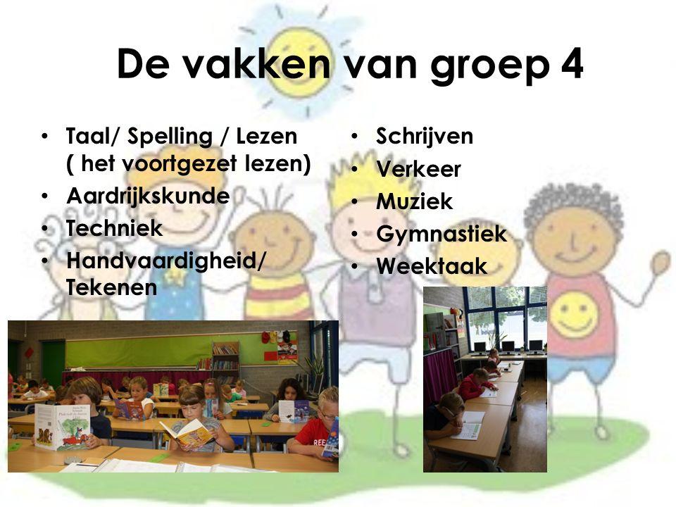De vakken van groep 4 Taal/ Spelling / Lezen ( het voortgezet lezen)