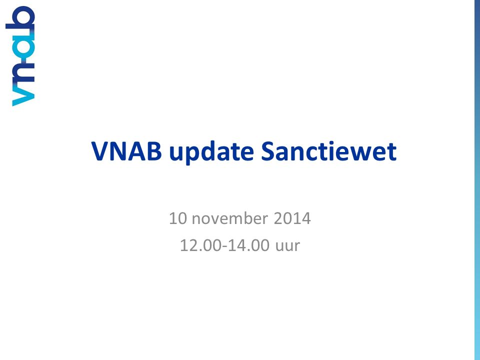 VNAB update Sanctiewet