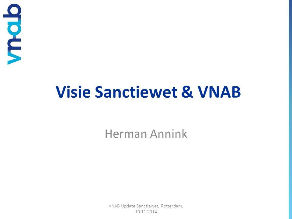 Visie Sanctiewet & VNAB