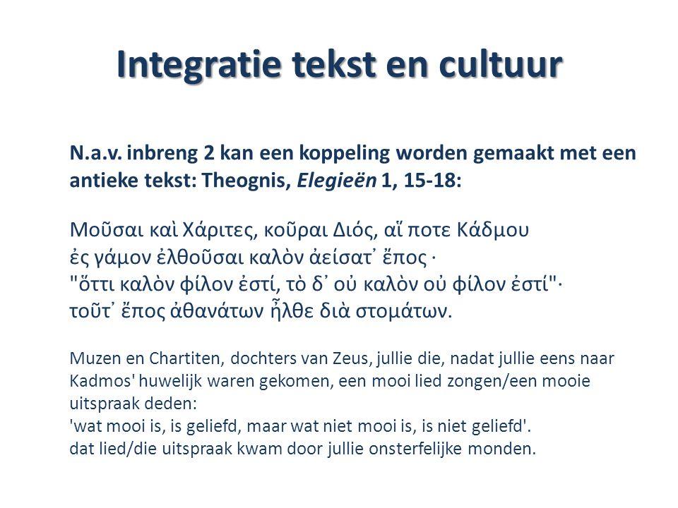 Integratie tekst en cultuur