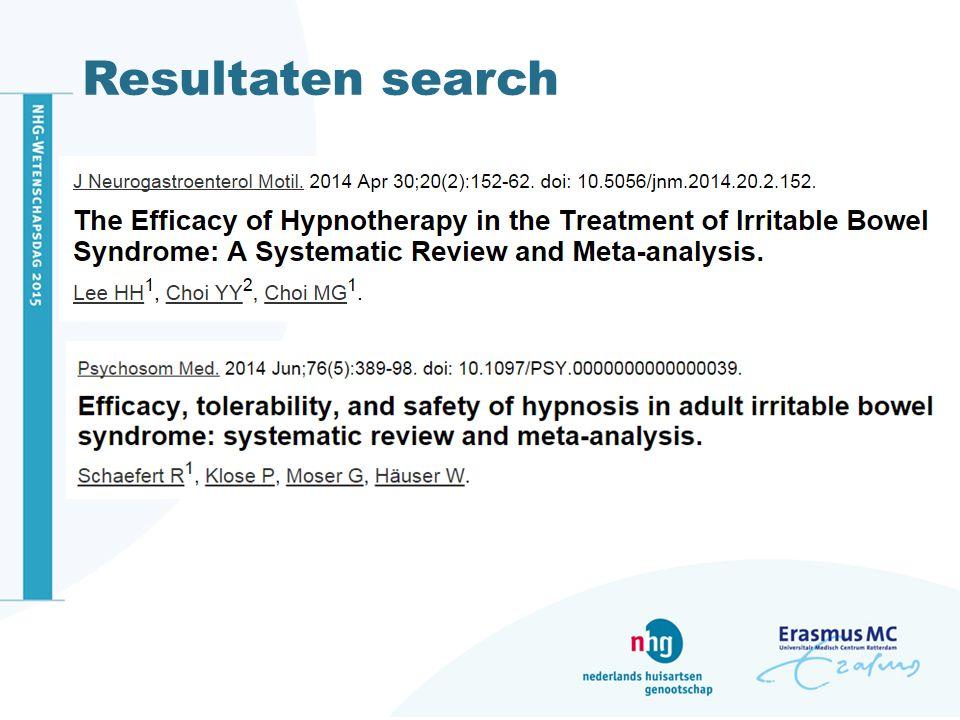 Resultaten search