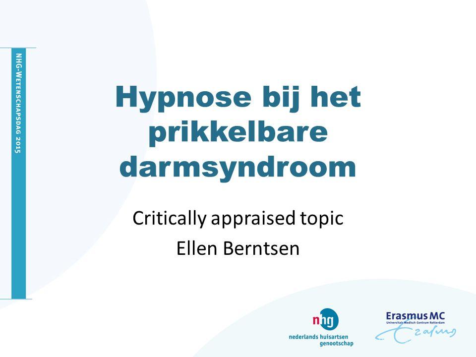 Hypnose bij het prikkelbare darmsyndroom