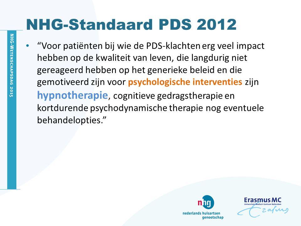 NHG-Standaard PDS 2012