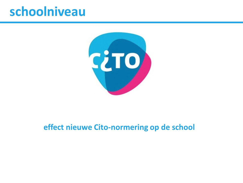 effect nieuwe Cito-normering op de school