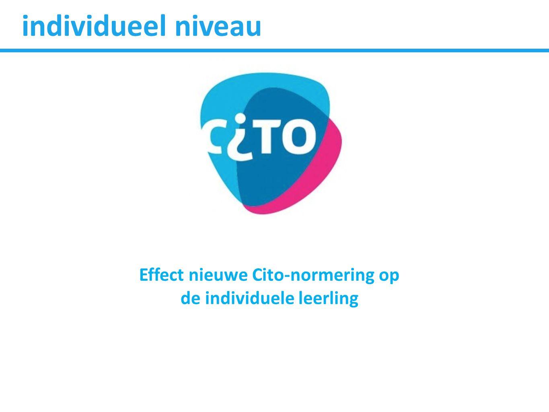 Effect nieuwe Cito-normering op de individuele leerling