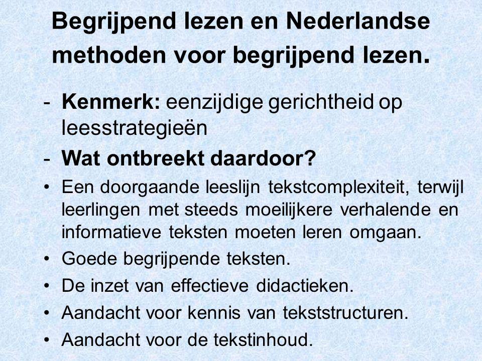 Begrijpend lezen en Nederlandse methoden voor begrijpend lezen.