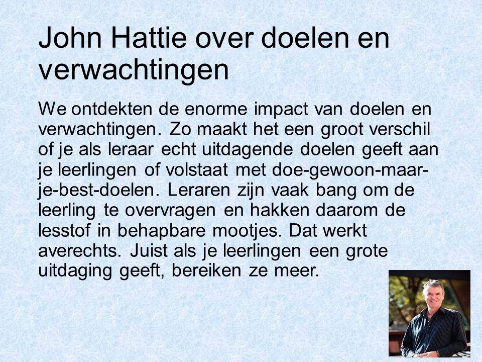 John Hattie over doelen en verwachtingen