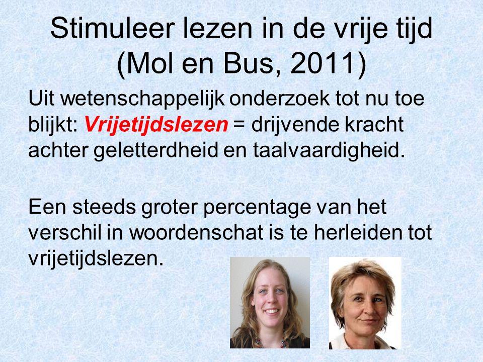 Stimuleer lezen in de vrije tijd (Mol en Bus, 2011)