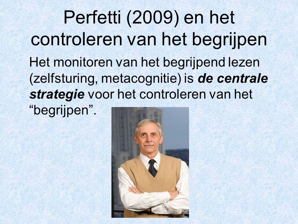Perfetti (2009) en het controleren van het begrijpen
