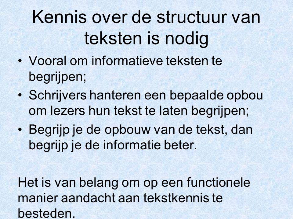 Kennis over de structuur van teksten is nodig