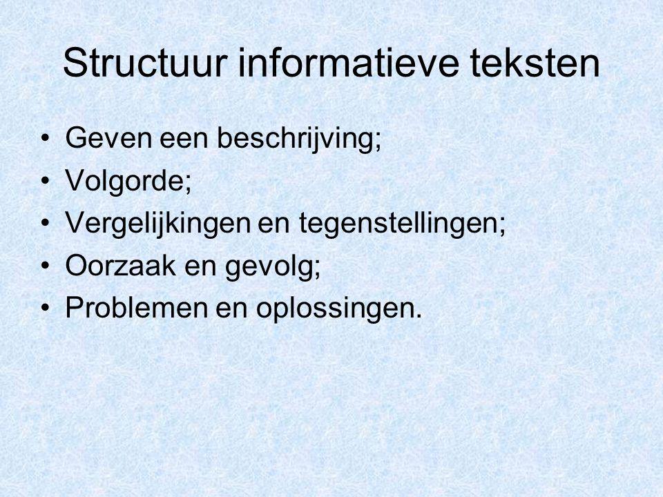 Structuur informatieve teksten