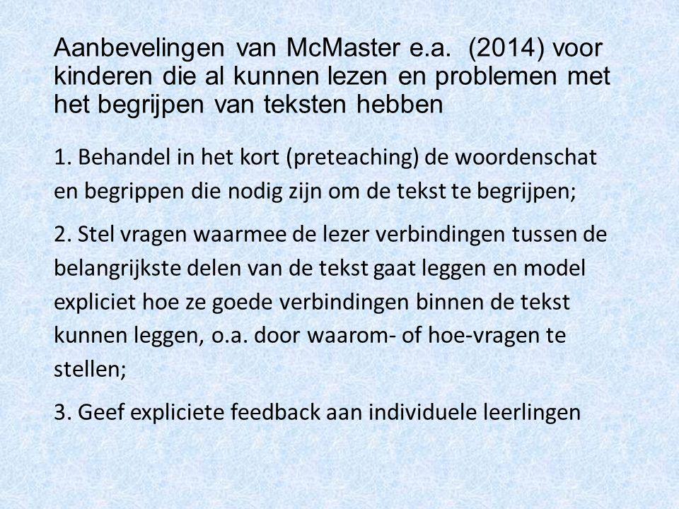 Aanbevelingen van McMaster e. a