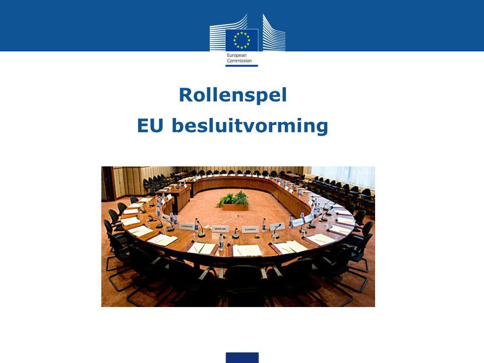 Rollenspel EU besluitvorming