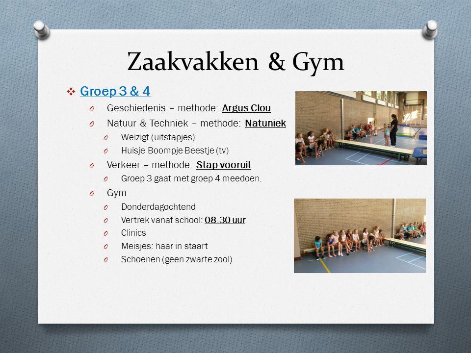 Zaakvakken & Gym Groep 3 & 4 Geschiedenis – methode: Argus Clou
