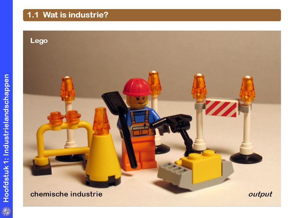 1.1 Wat is industrie Lego Hoofdstuk 1: Industrielandschappen