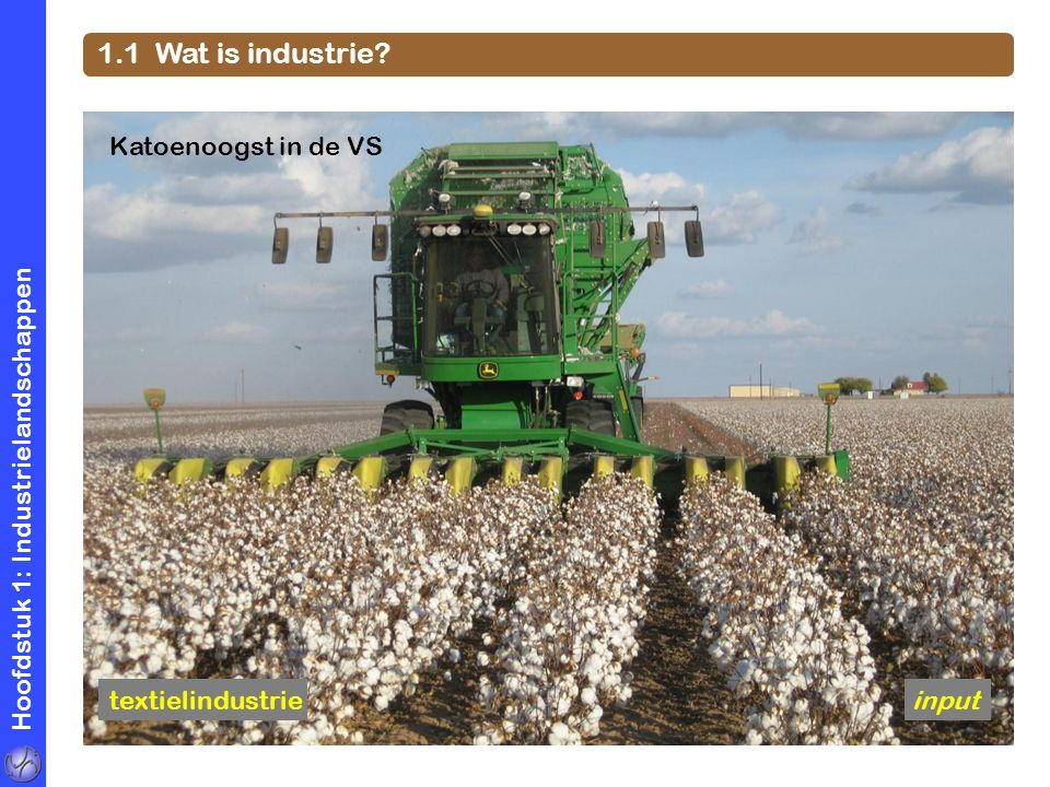 1.1 Wat is industrie Katoenoogst in de VS