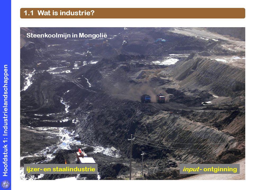 1.1 Wat is industrie Steenkoolmijn in Mongolië