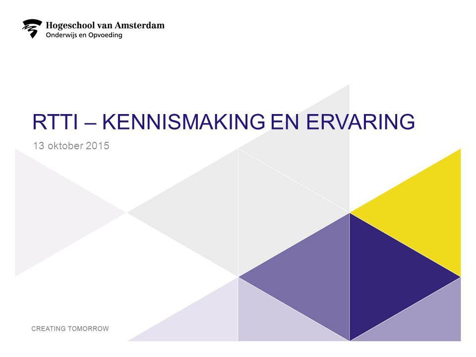 RTTI – kennismaking en ervaring