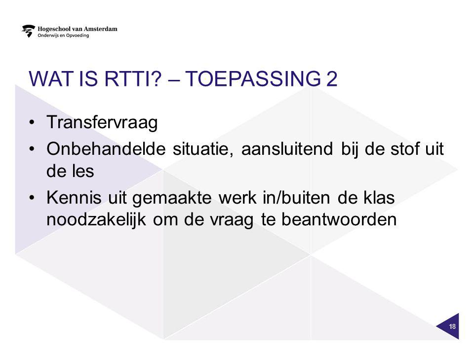 Wat is RTTI – Toepassing 2