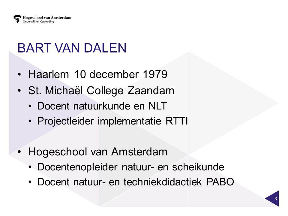 Bart van Dalen Haarlem 10 december 1979 St. Michaël College Zaandam