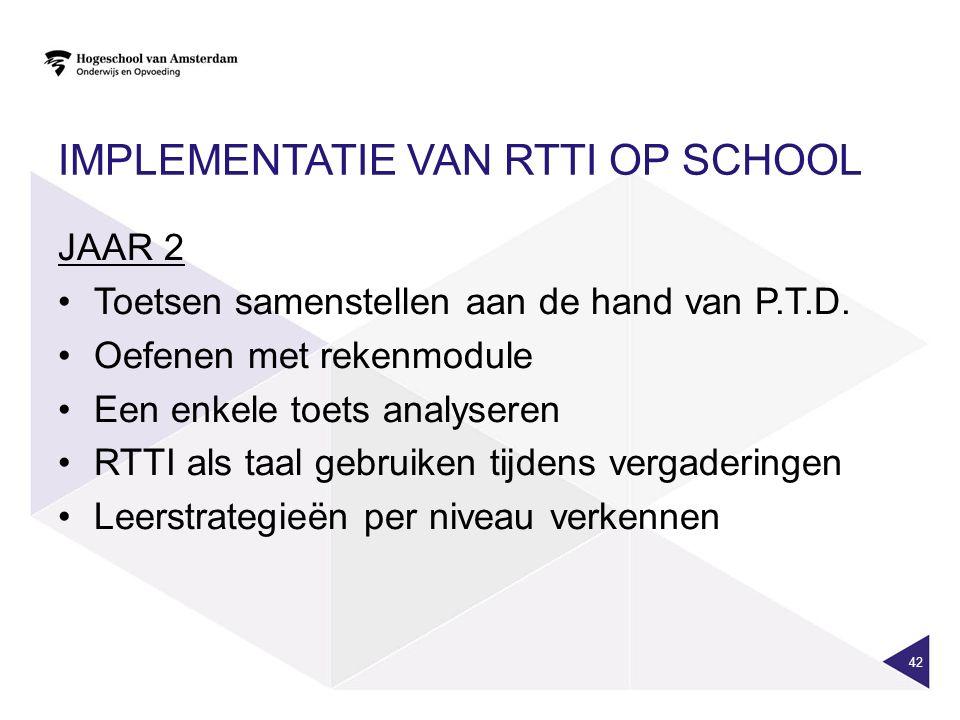 Implementatie van RTTI op school