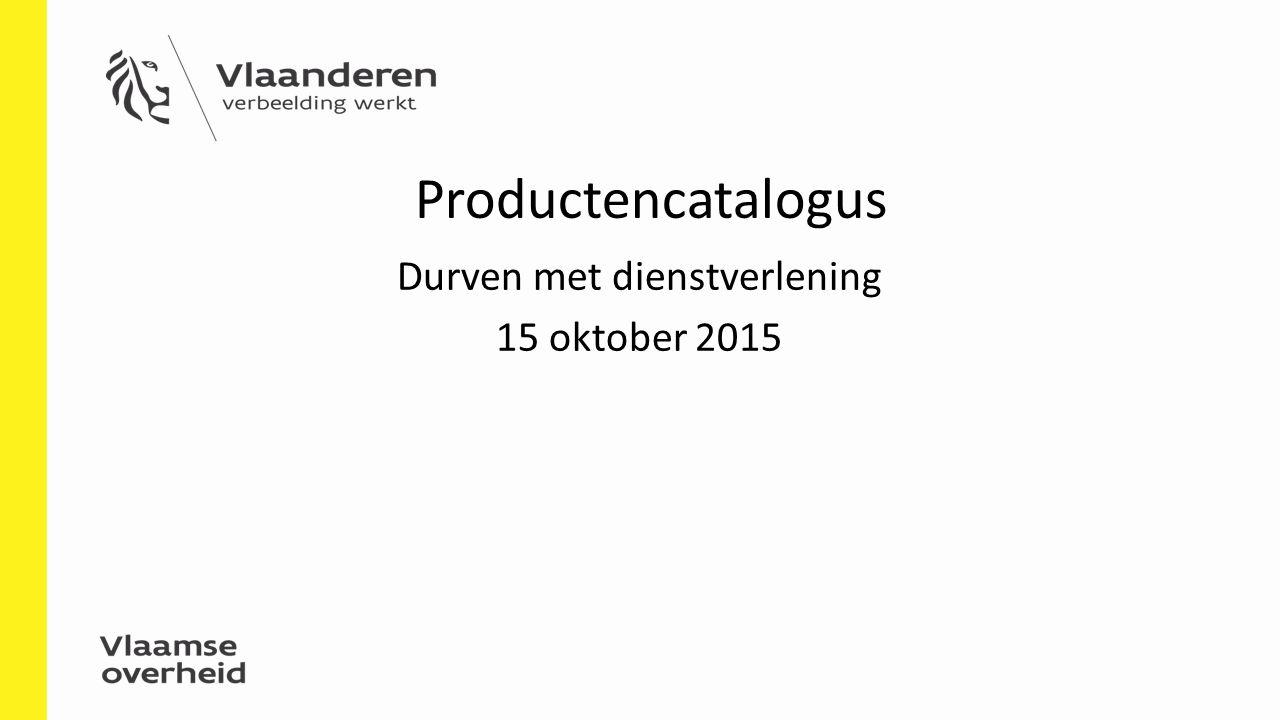 Durven met dienstverlening 15 oktober 2015