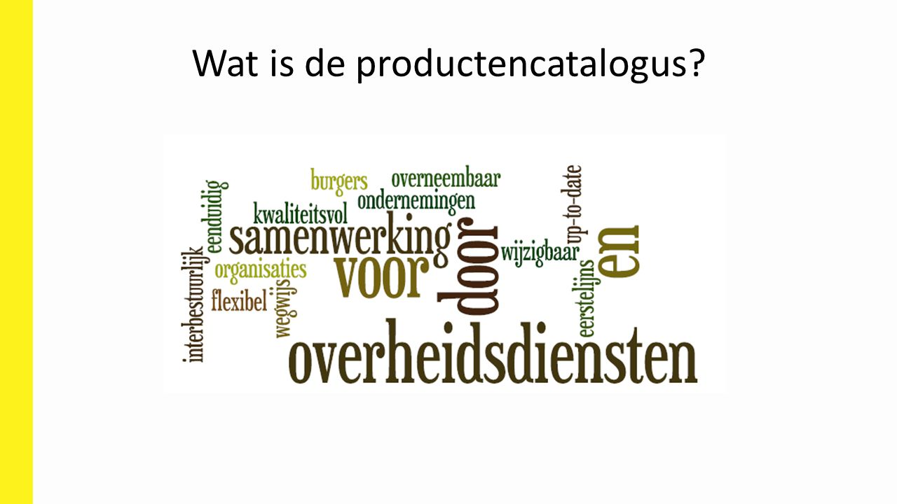Wat is de productencatalogus
