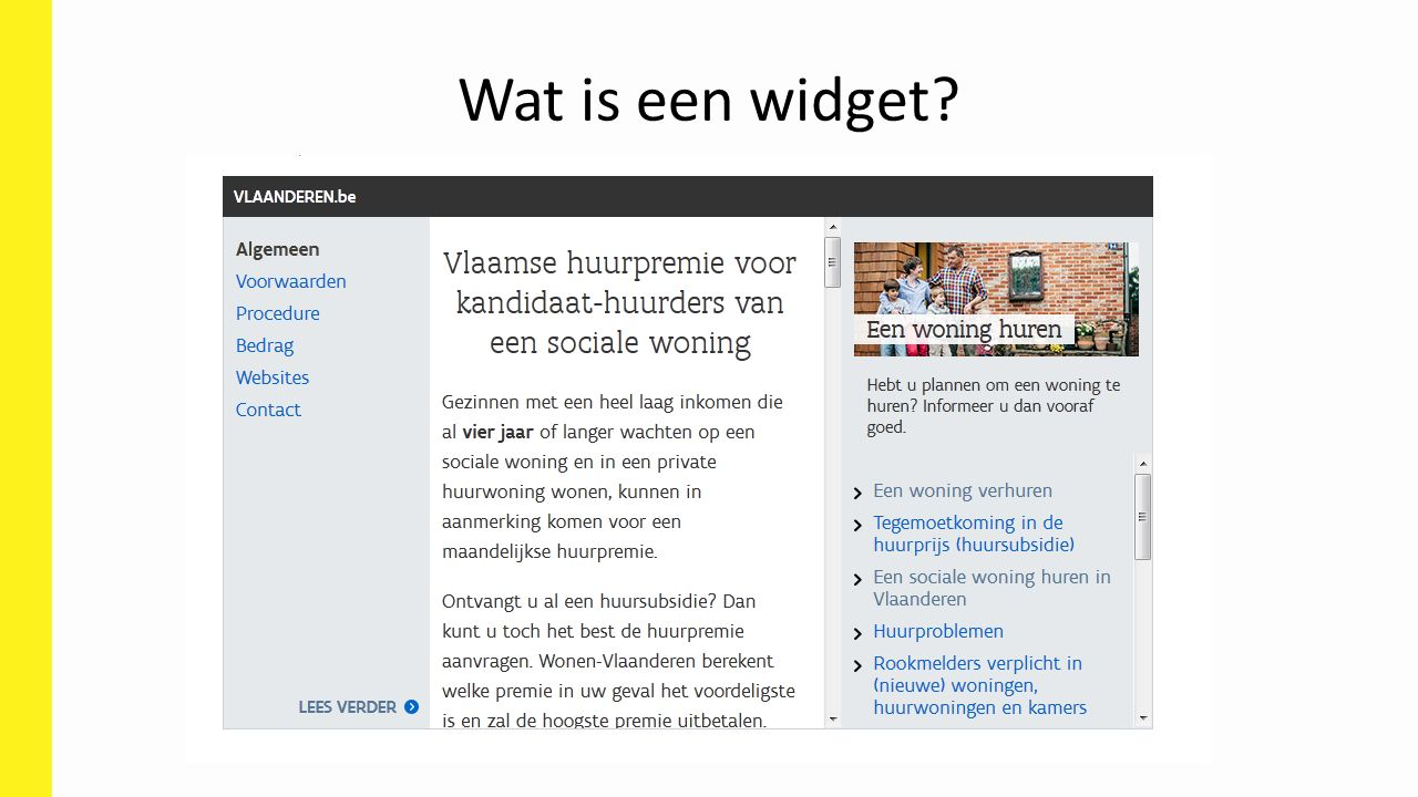 Wat is een widget