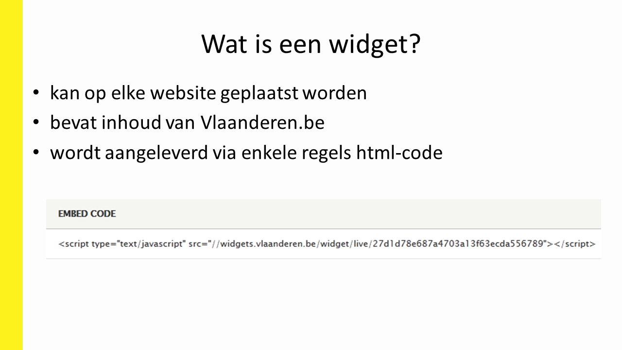 Wat is een widget kan op elke website geplaatst worden
