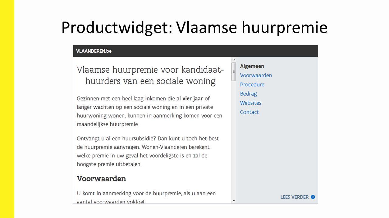 Productwidget: Vlaamse huurpremie