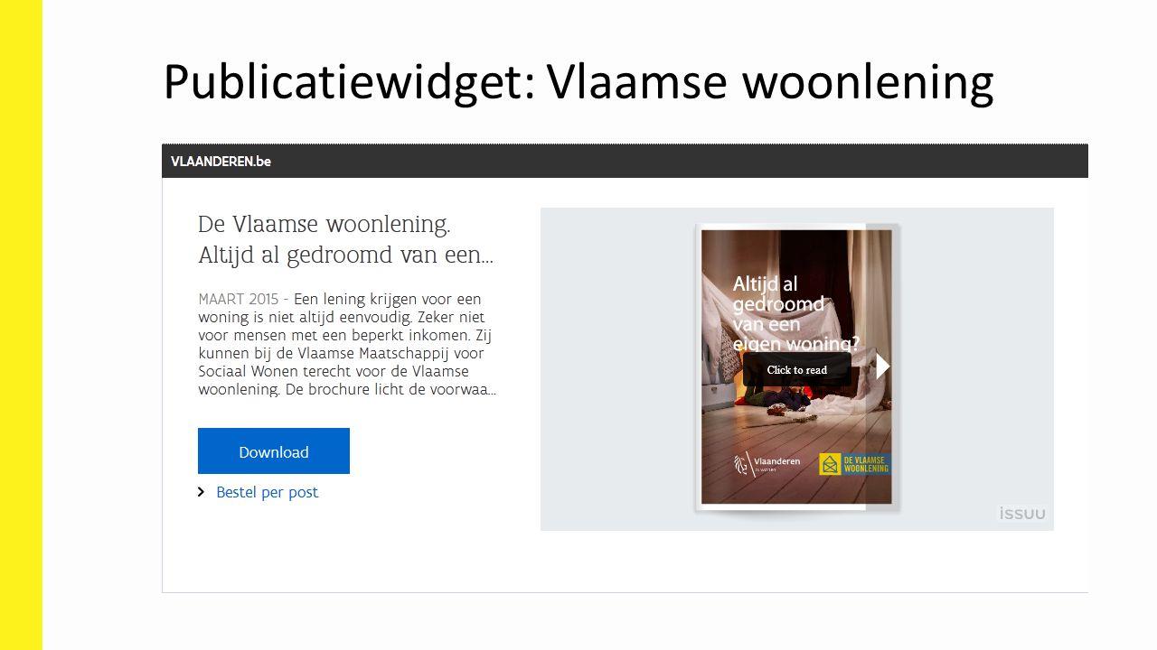 Publicatiewidget: Vlaamse woonlening
