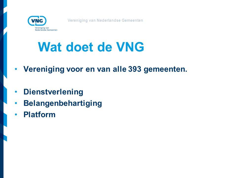 Wat doet de VNG Vereniging voor en van alle 393 gemeenten.