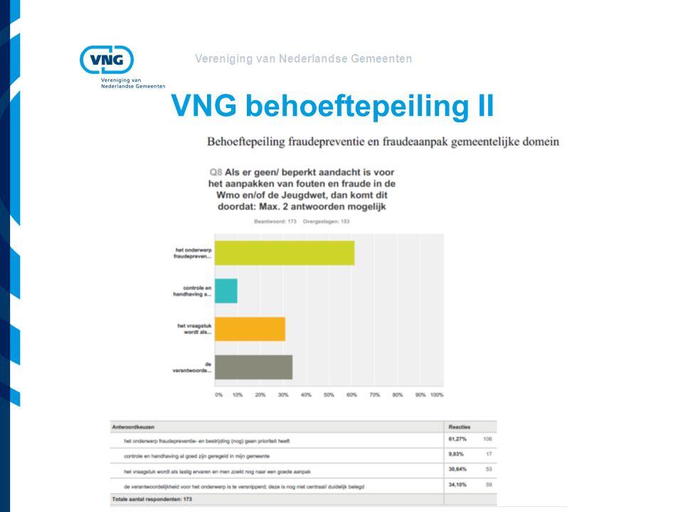 VNG behoeftepeiling II
