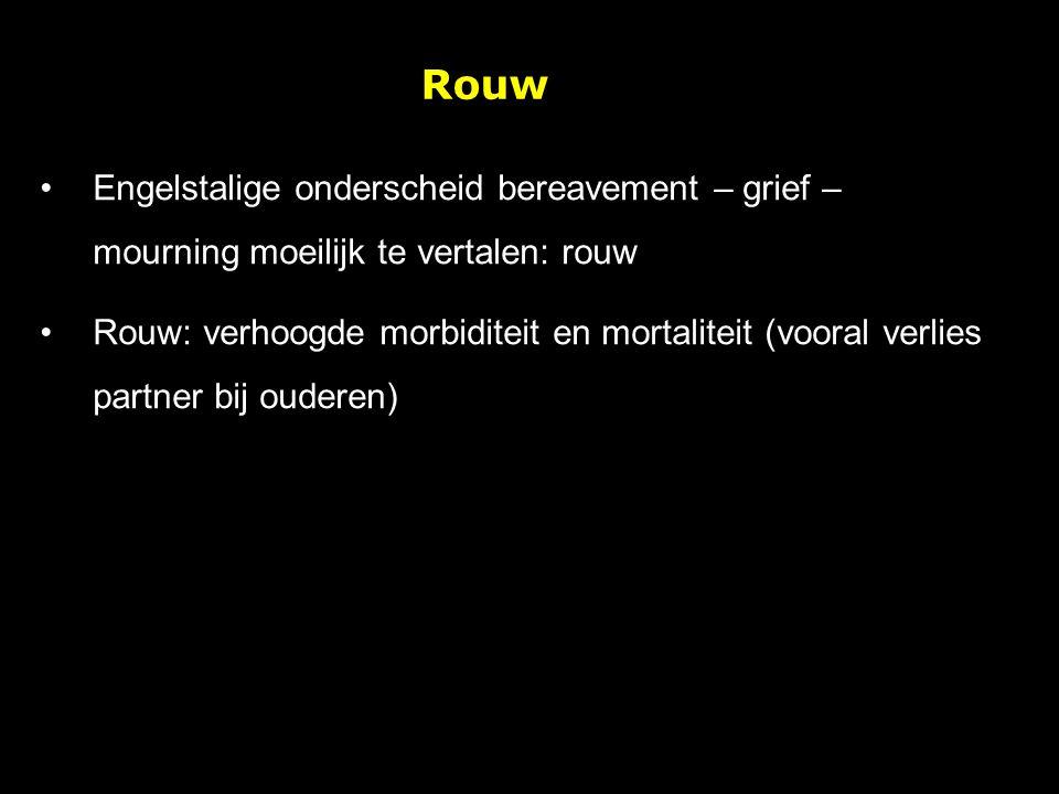 Rouw Engelstalige onderscheid bereavement – grief – mourning moeilijk te vertalen: rouw.