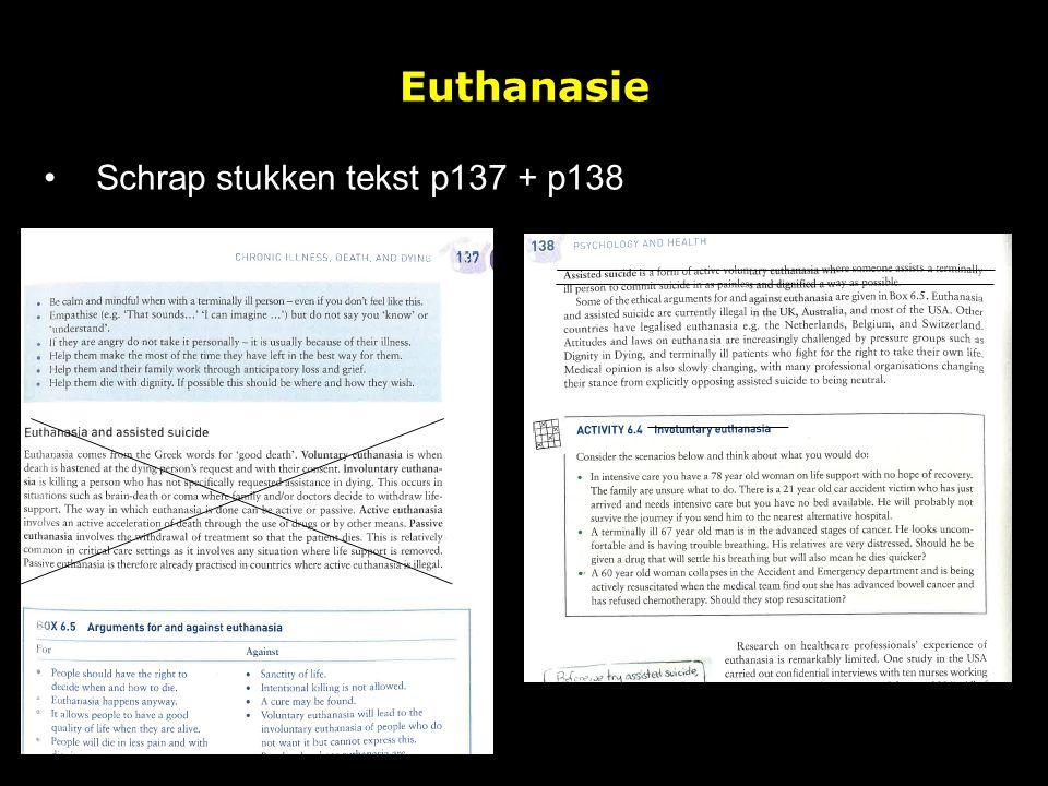 Euthanasie Schrap stukken tekst p137 + p138