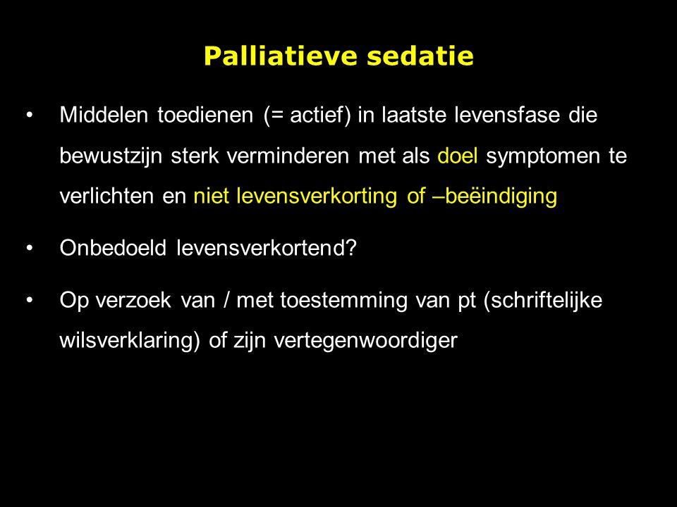 Palliatieve sedatie