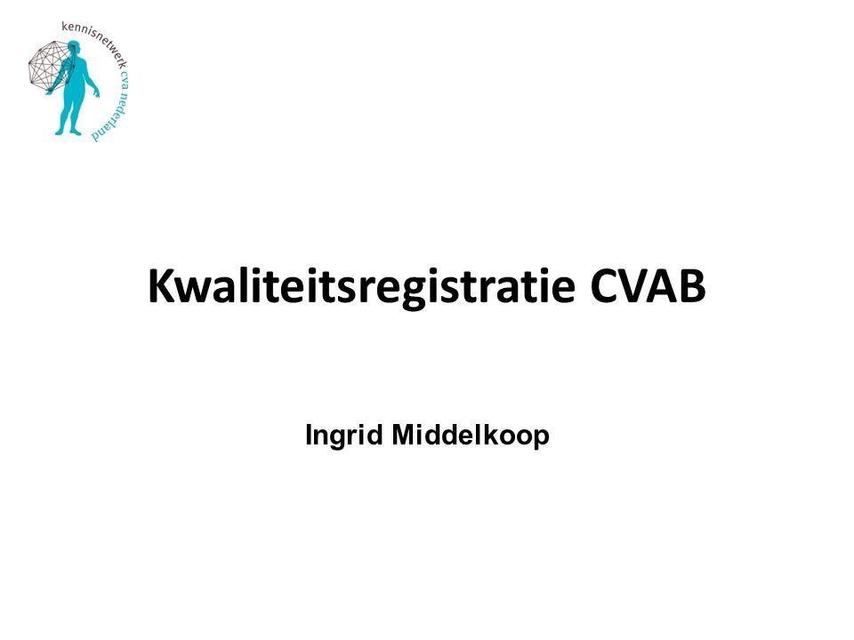 Kwaliteitsregistratie CVAB