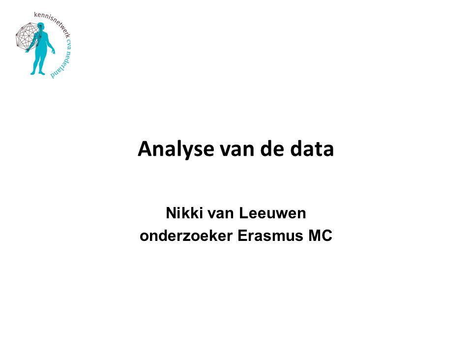 Nikki van Leeuwen onderzoeker Erasmus MC