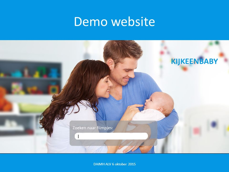 Demo website DAIMH ALV 6 oktober 2015