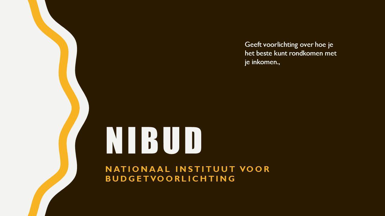Nibud Nationaal instituut voor budgetvoorlichting