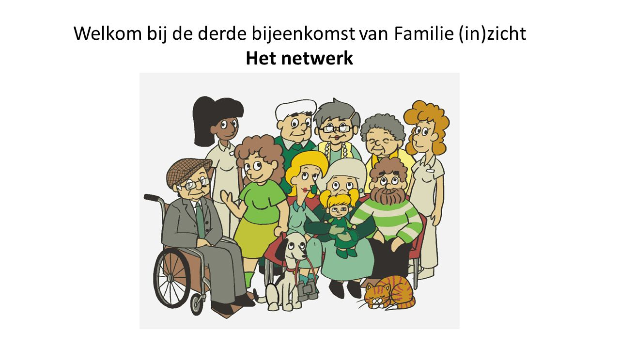 Welkom bij de derde bijeenkomst van Familie (in)zicht