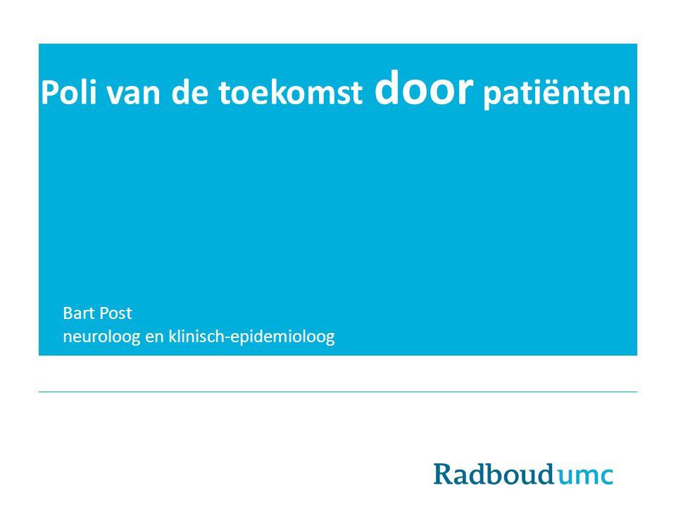 Poli van de toekomst door patiënten