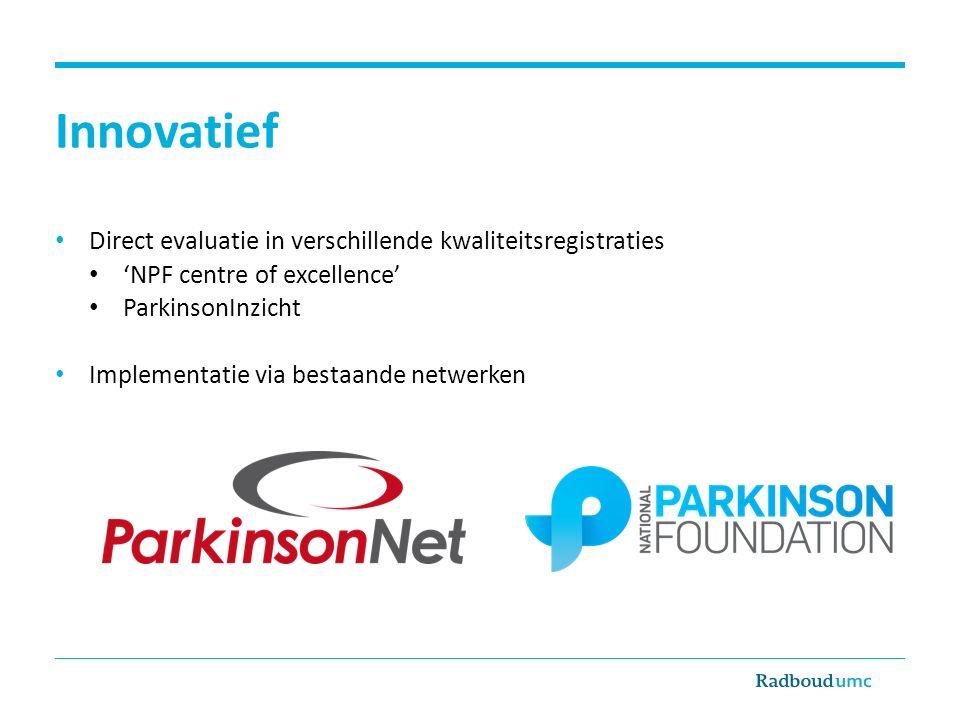 Innovatief Direct evaluatie in verschillende kwaliteitsregistraties