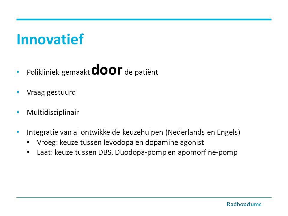 Innovatief Polikliniek gemaakt door de patiënt Vraag gestuurd