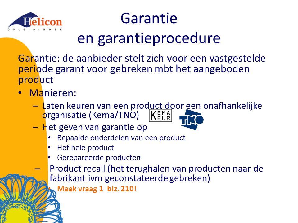 Garantie en garantieprocedure