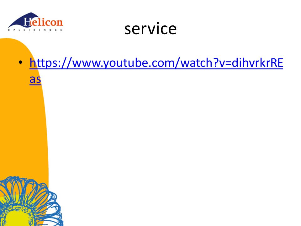 service https://www.youtube.com/watch v=dihvrkrREas